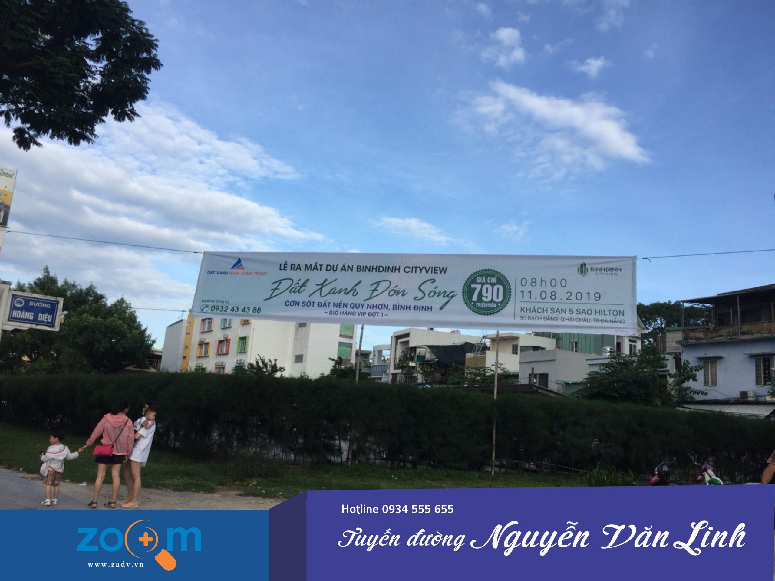 dịch vụ treo băng rôn bất động sản ở Đà Nẵng