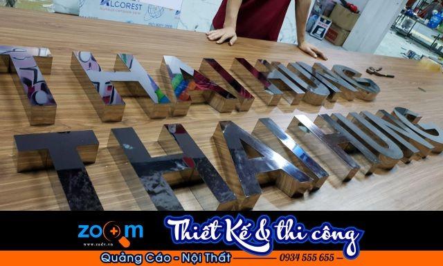 Dịch vụ làm chữ inox ở Đà Nẵng