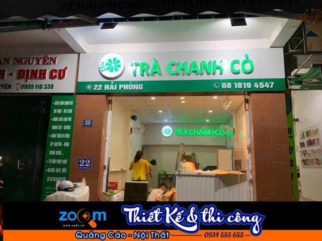 Thi công bảng hiệu quảng cáo trà chanh tại Đà Nẵng