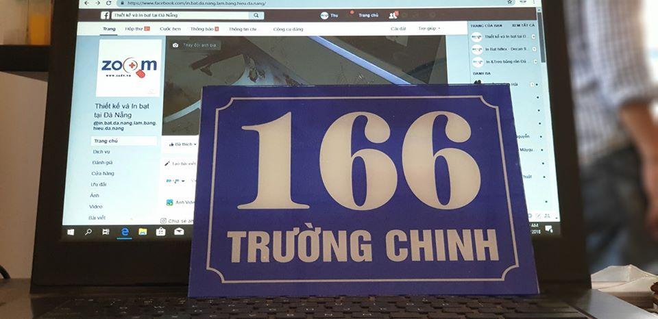bảng giá bảng hiệu số nhà tại Đà Nẵng