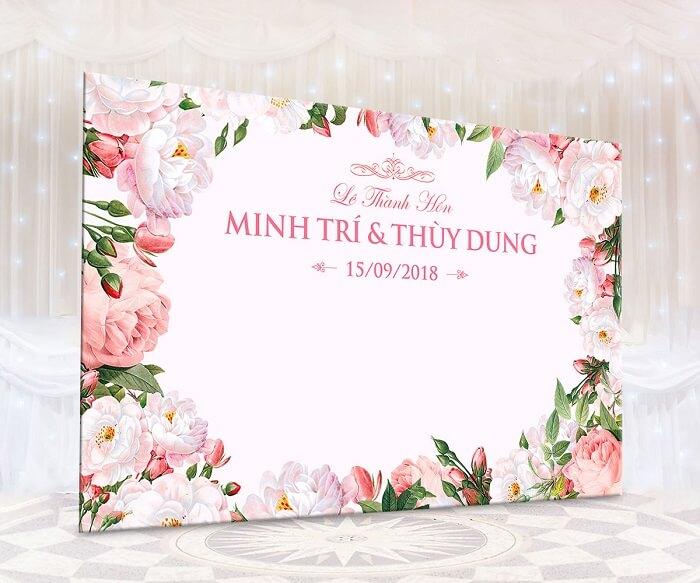 In ấn backdrop tiệc cưới ở Đà Nẵng