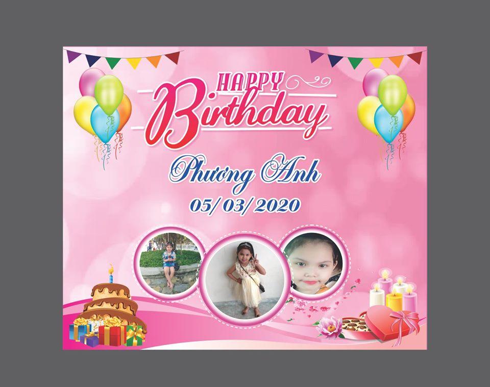 In ấn backdrop sinh nhật tại Đà Nẵng
