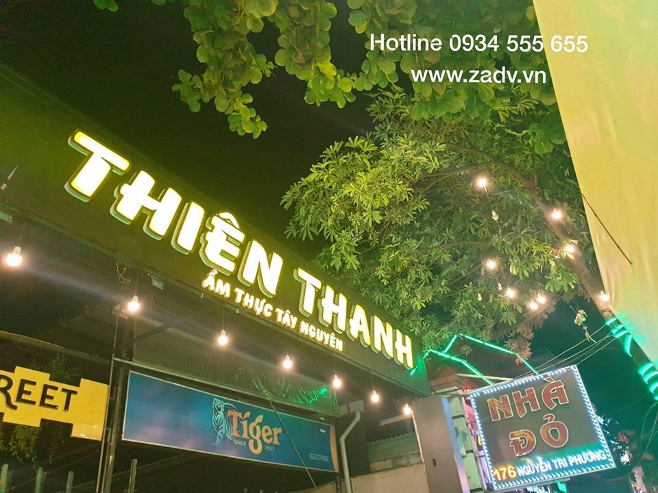Làm bảng hiệu quán ăn đẹp tại Đà Nẵng