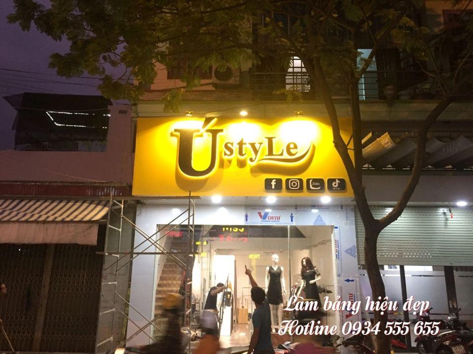 Làm bảng hiệu ALu shop áo quần tại Đà Nẵng