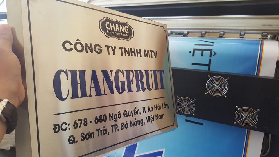 Bảng hiệu inox ăn mòn tại Đà Nẵng