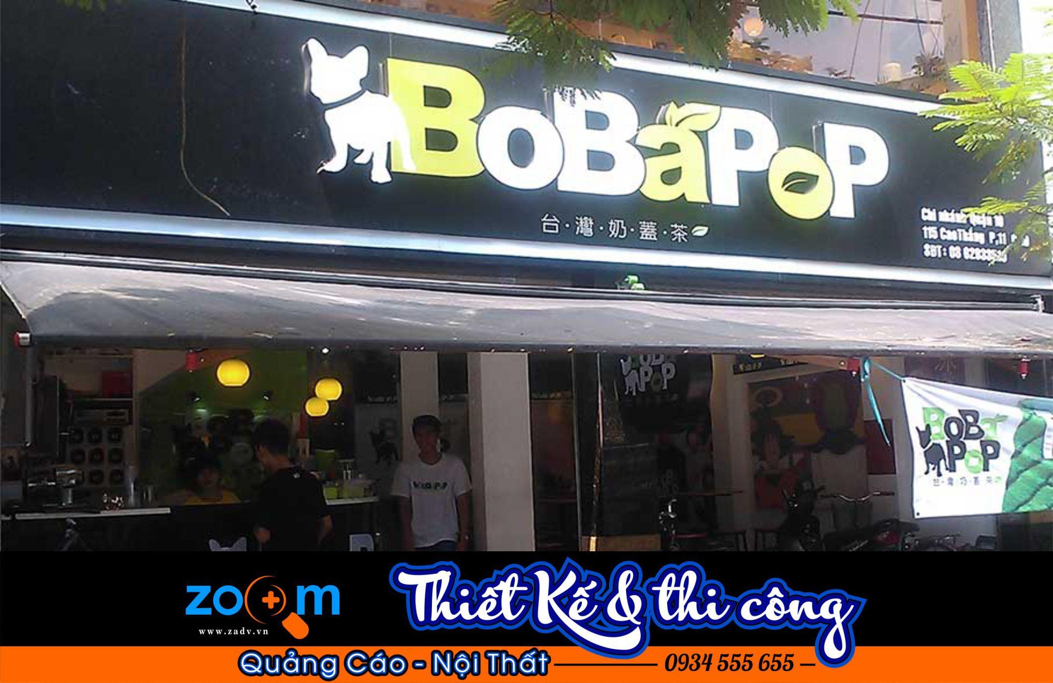 Bảng hiệu quán trà sữa đẹp ở Đà Nẵng