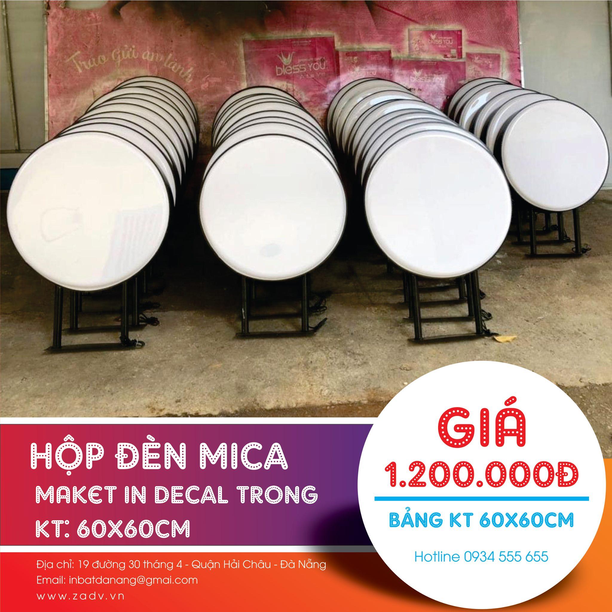 Lắp đặt hộp đèn mica giá bao rẻ ở Đà Nẵng